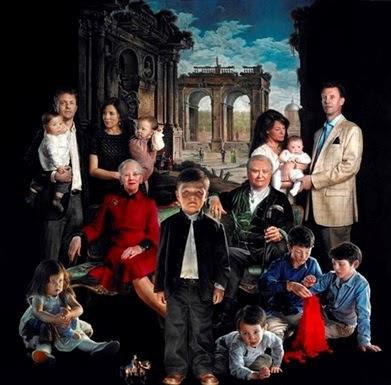 El controvertido retrato de la familia real danesa